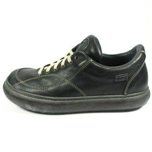 Camper Black Leather Round Toe Lace Up Shoes